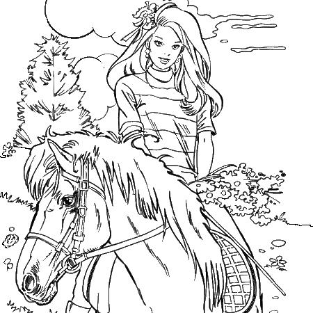 Coloriage de cheveaux la thironniere - Coloriage equitation ...